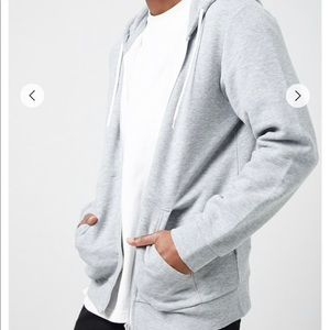 Unisex basic zip-up hoodie